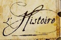 Histoire écrit à la plume sur parchemin